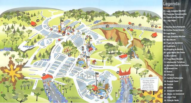 Mapa Turístico de Gramado