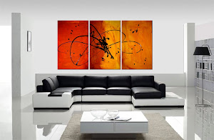 "ORIGINAL ABSTRACT PAINTING ""in the beginning"" ONLY $250"