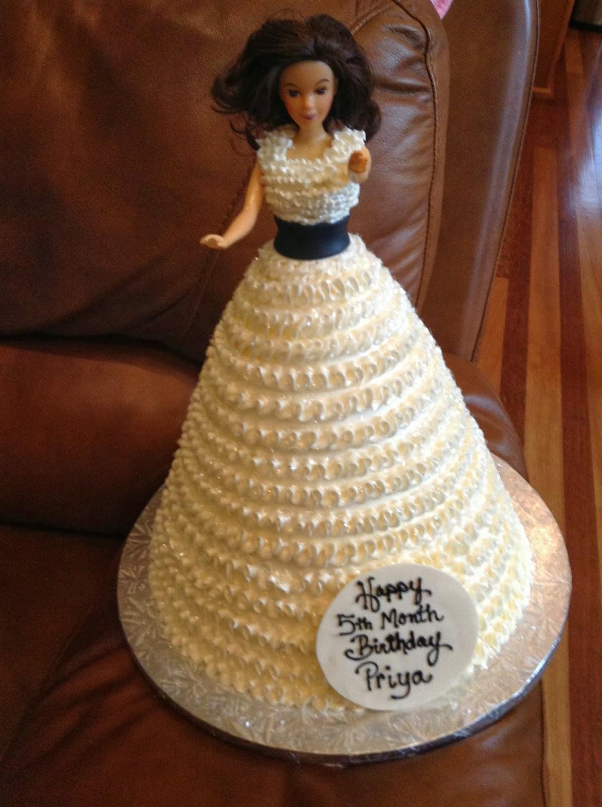 Cake Pic Priya : Vijay Madala, My Story: Priya 5th Month Birthday Cake
