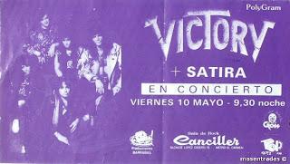 entrada de concierto de victory