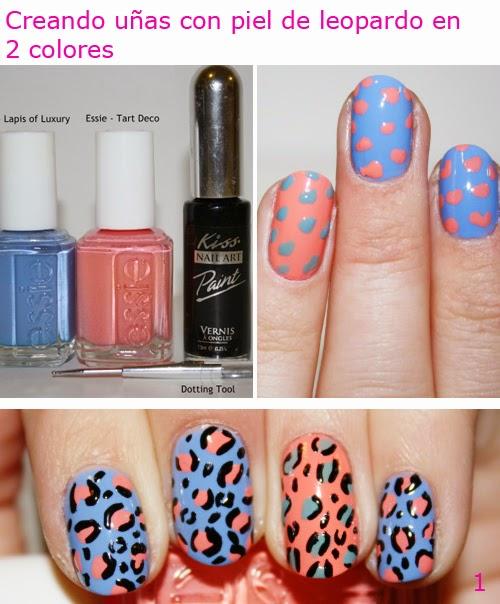 diseño de uñas con piel leopardo