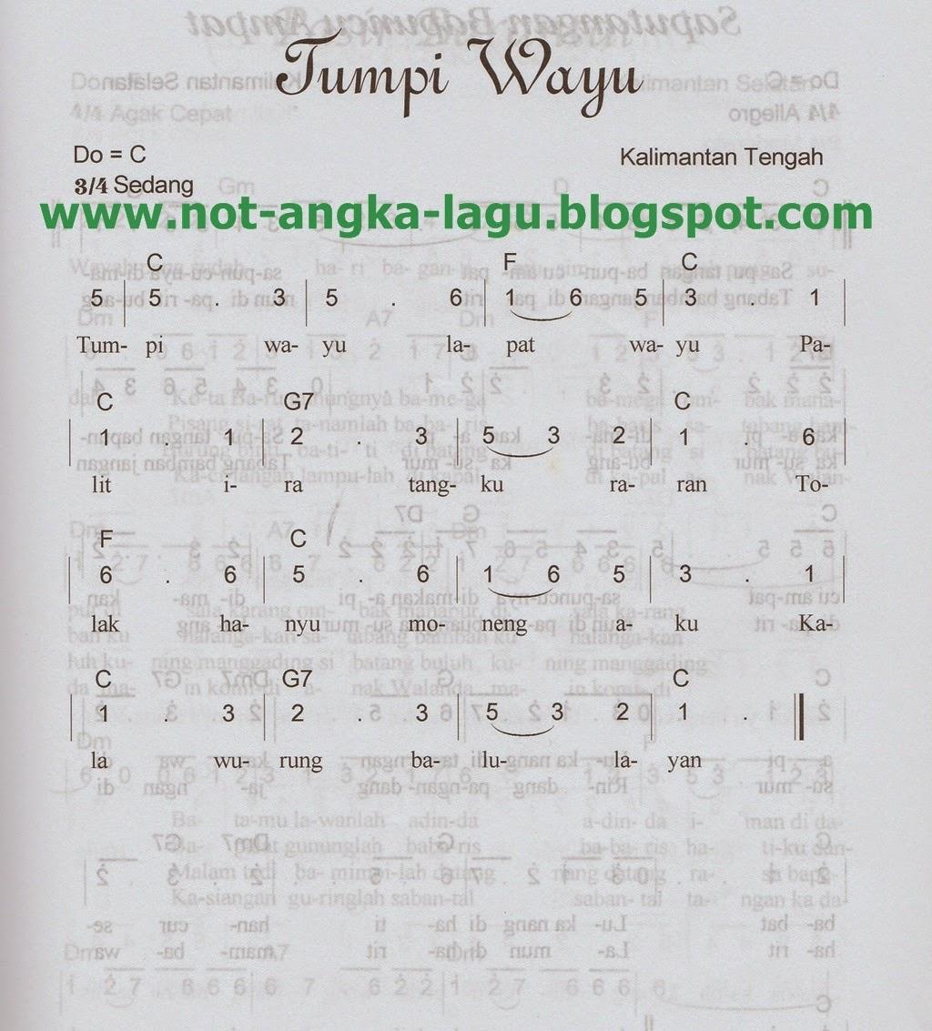 Not Angka Lagu Tumpi Wayu