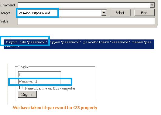 CSS Locator ID example Selenium IDE