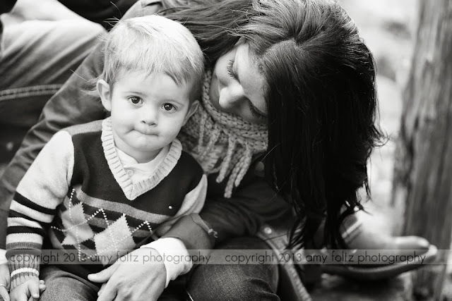 black and white photo of mom and toddler