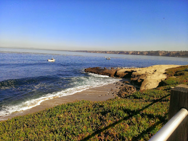 boats off of La Jolla beach