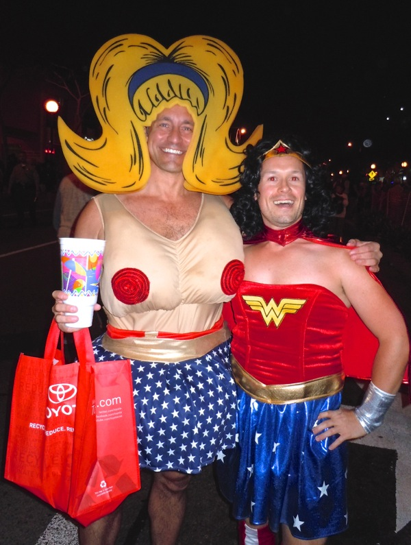 West Hollywood Halloween Wonder Woman costumes