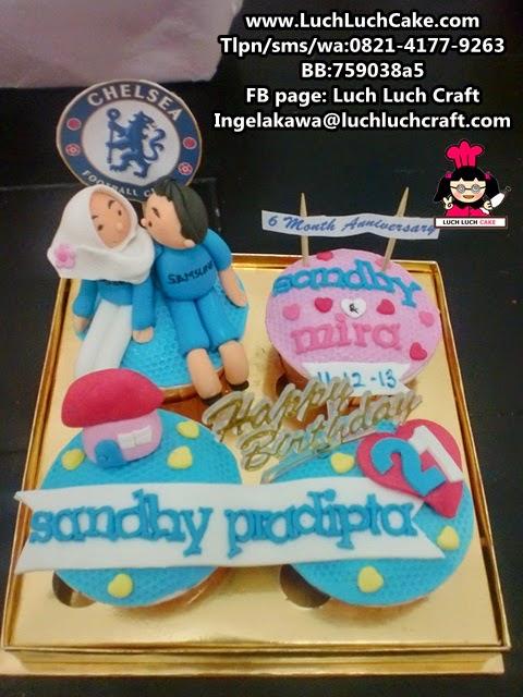 Cupcake Romantis Tema Chelsea