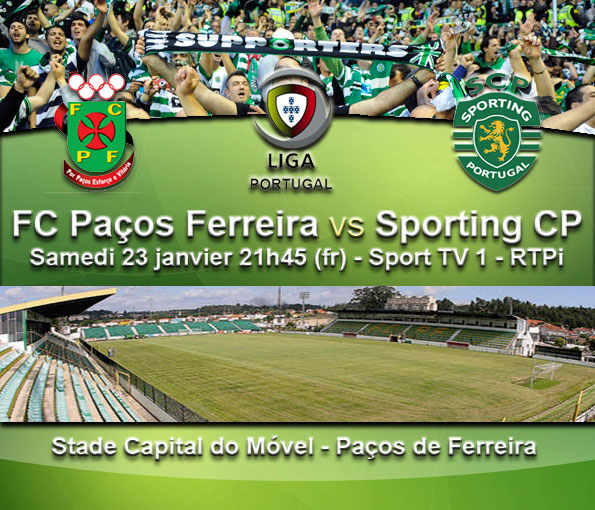 plan te sporting clube de portugal liga fc pa os de ferreira vs sporting cp. Black Bedroom Furniture Sets. Home Design Ideas