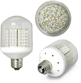 Satu varian bentuk lampu LED, dimana bentuk lampu LED yang menggantikan bohlam bisa bermacam-macam. Yang pasti adalah lampu LED merupakan lampu berisi kumpulan LED kecil dengan warna putih atau kuning.
