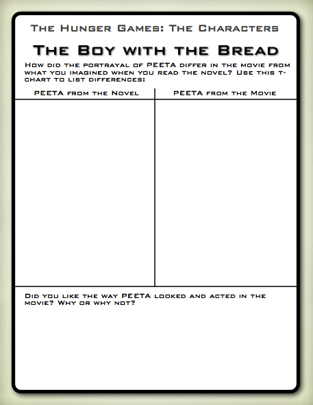 Printables Hunger Games Worksheets hunger games lessons free printables for the movie you might also like