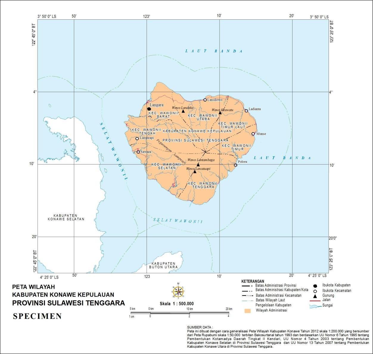 kabupaten konawe kepulauan provinsi sulawesi tenggara