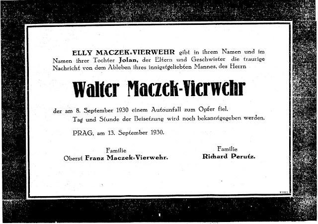 Walter Maczek Obituary