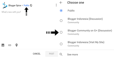 G+ post on community page