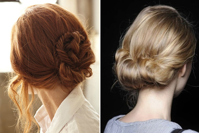 how to make a chignon with long hair