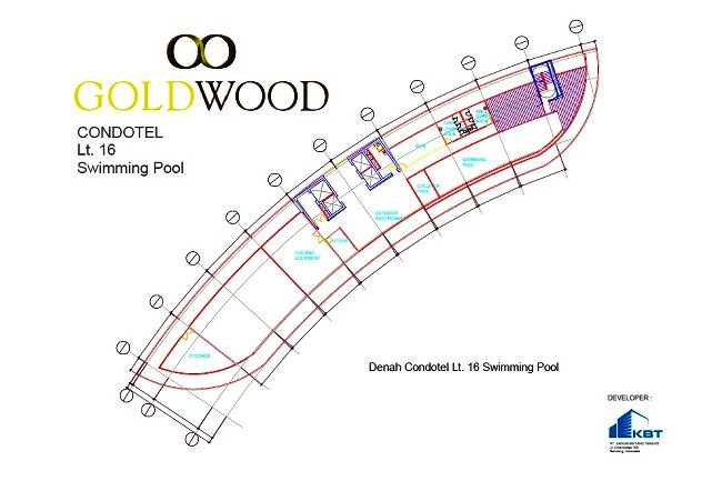 Gold Wood MasterPlan  Condotel Swimming Pool  floor16