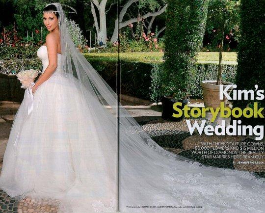 O vestido de noiva de Kim Kardashian