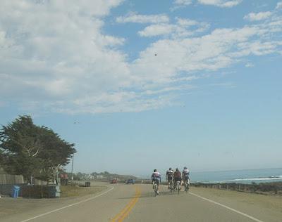 Cyclists Hogging a Road Along the Coast, © B. Radisavljevic