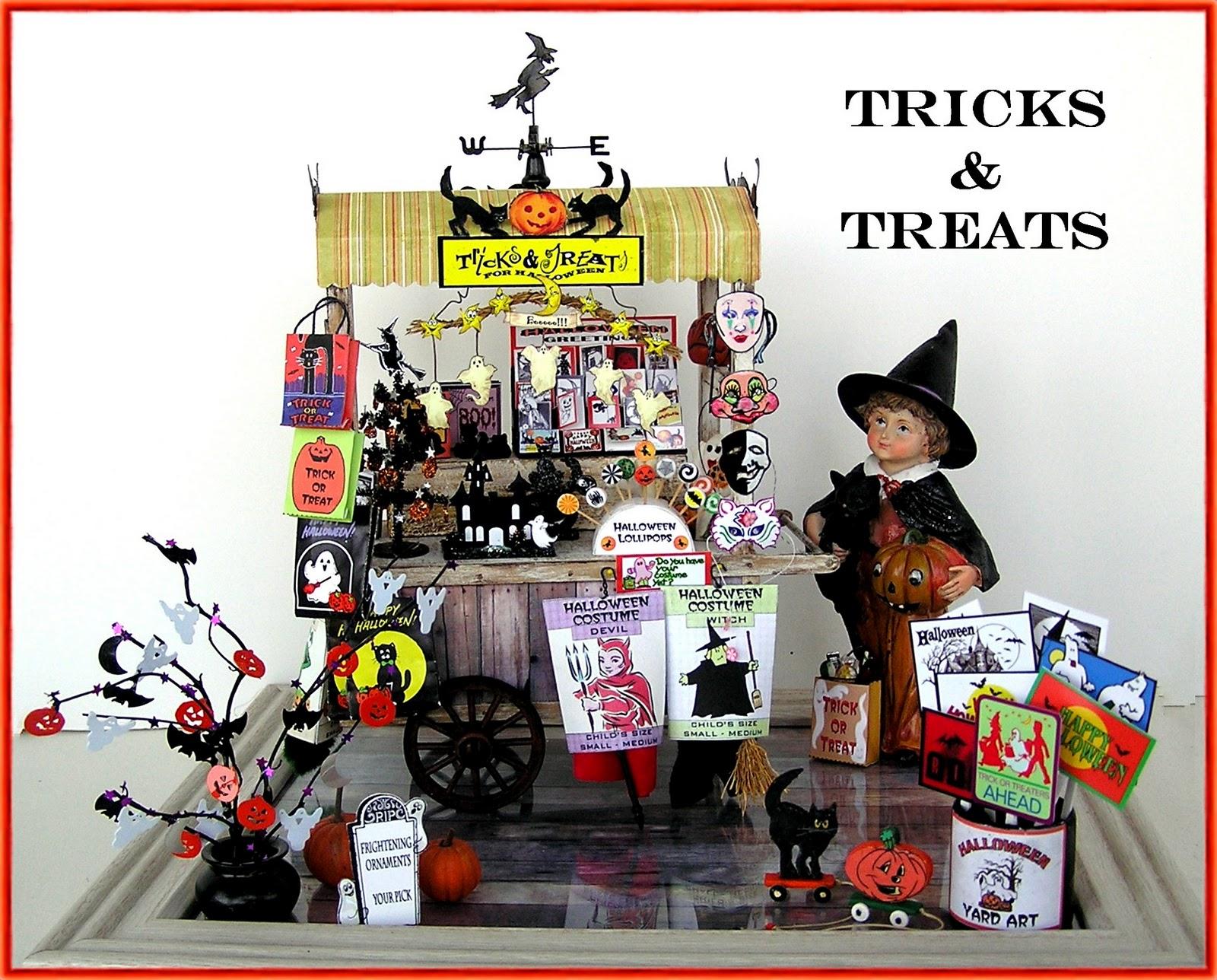 dyi dollhouse miniatures a halloween peddler s cart rh joannswansondiyminiatures blogspot com halloween dollhouse room boxes dollhouse halloween candy