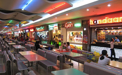 Quieter times food court,