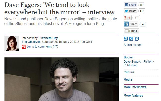 accident by dave eggers The story entitled accident by dave eggers is in the 2nd person point of view, as the author addresses the reader directly as you the use of 2nd person point of view is effective in.