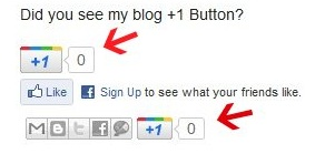 g+ sharing button below post