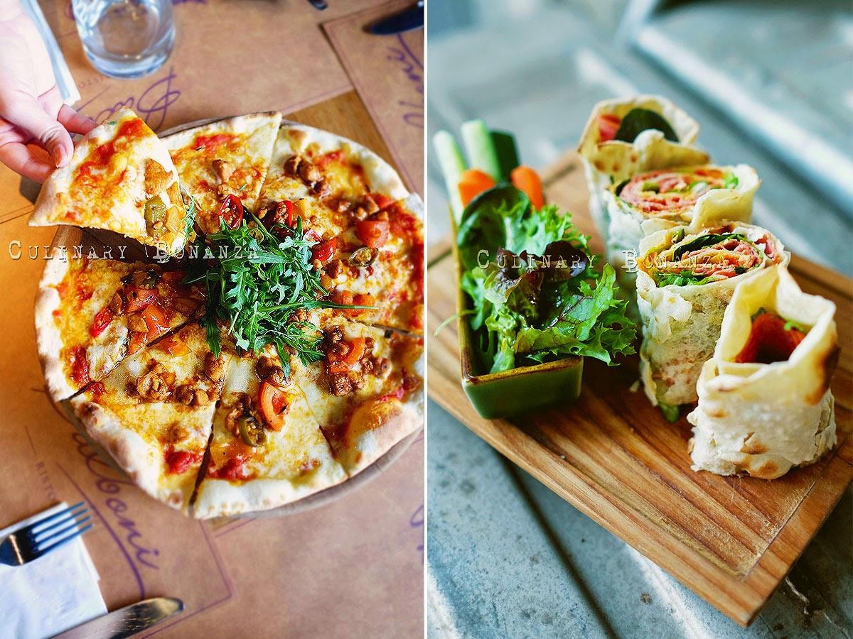 Devilled Chicken Pizza and Piadina alla Diavola