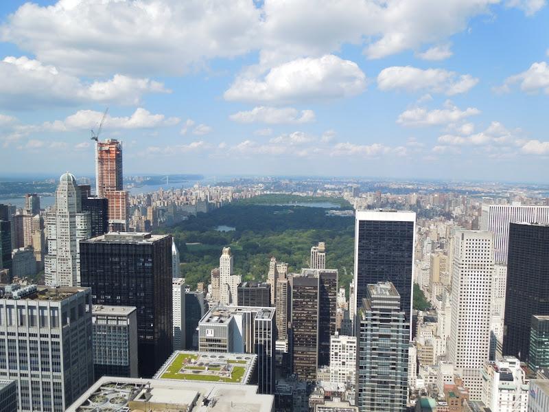 Rockefeller Center Central Park view New York