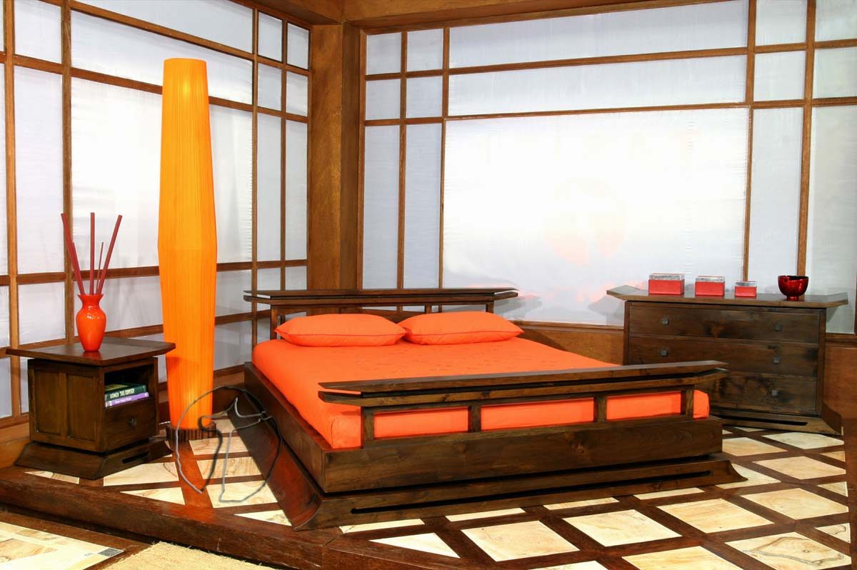 Wooden bedroom furniture popular interior house ideas for Asian bedroom design