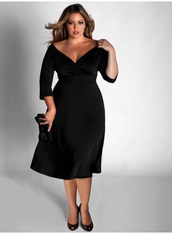 Нарядные стильные платья для полных
