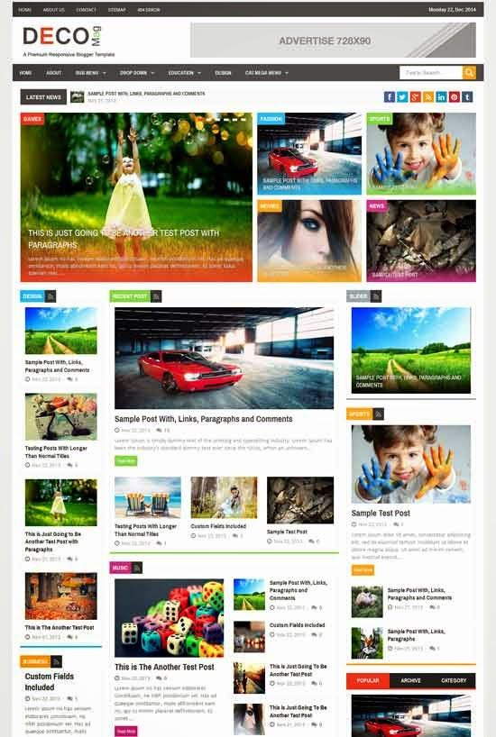 Deco Magz - Responsive  Blogger Template