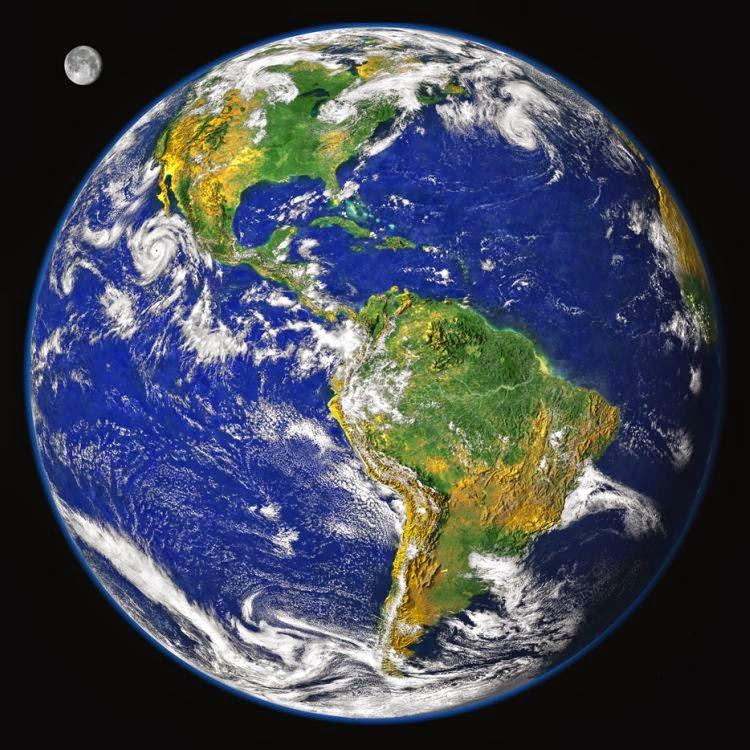 Планета земля на карте со спутника