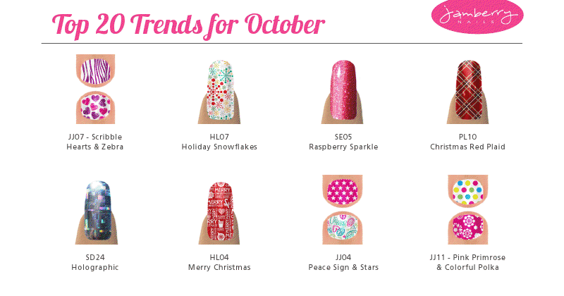 [RePLAY]: Jamberry Nails Top 20 Nail Trends for October 2012