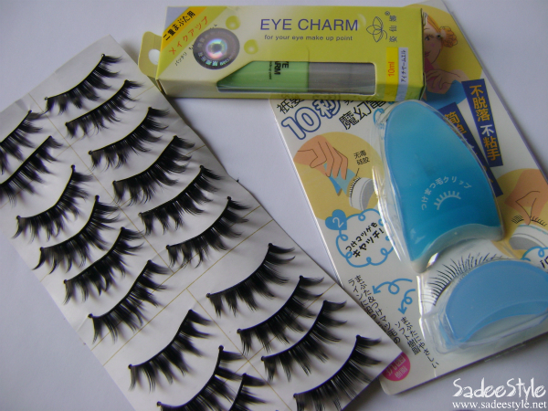 Eyelash False Pretty Eyelashes & Applicater /Glue