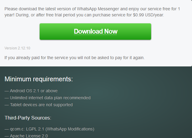 Get the latest WhatsApp for Android