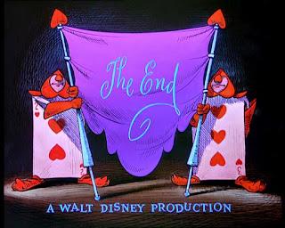 Cena do fim do filme Alice no País das Maravilhas, da Disney