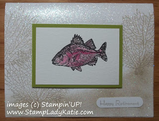 Card made with Stampin'UP!'s stamp set: By the Tide and Crystal Effects eyeballs