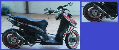 Honda Vario _ Model Racing Lowrider _ Gambar Foto Modifikasi Motor