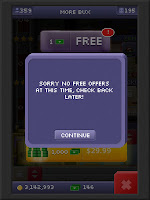 Tiny Tower Bucks after watching a bunch of ads