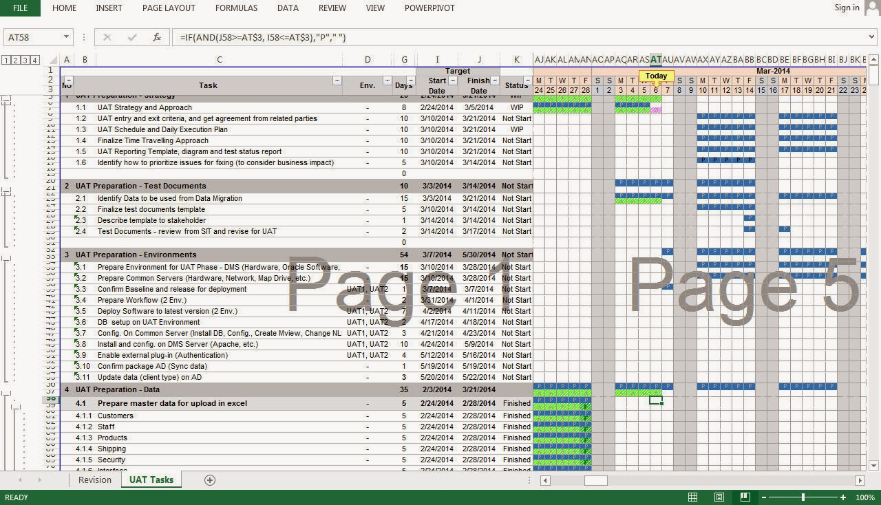 Project Plan With Ms Excel on Excel Timeline