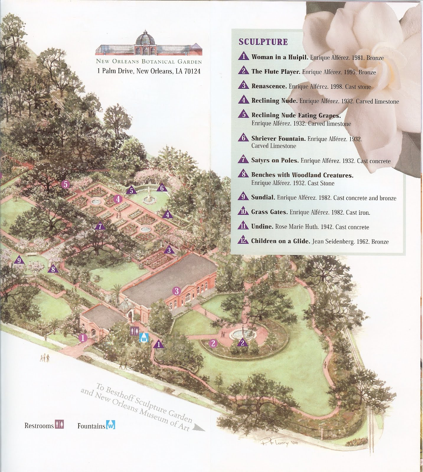 ... New Orleans Botanical Garden Brochure And Garden Map
