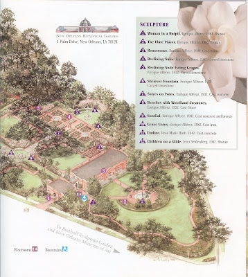 New Orleans Botanical Garden Brochure and Garden Map