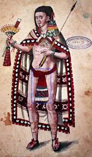 Mexica Noble con indumentaria prehispánica