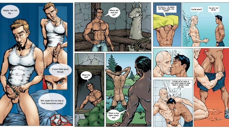 порно яой комикс