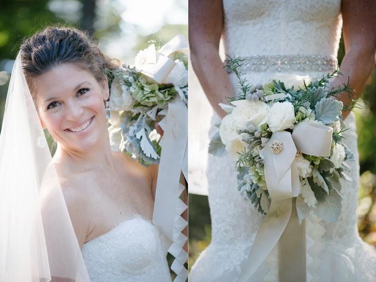 bride dress details and beautiful bouquet