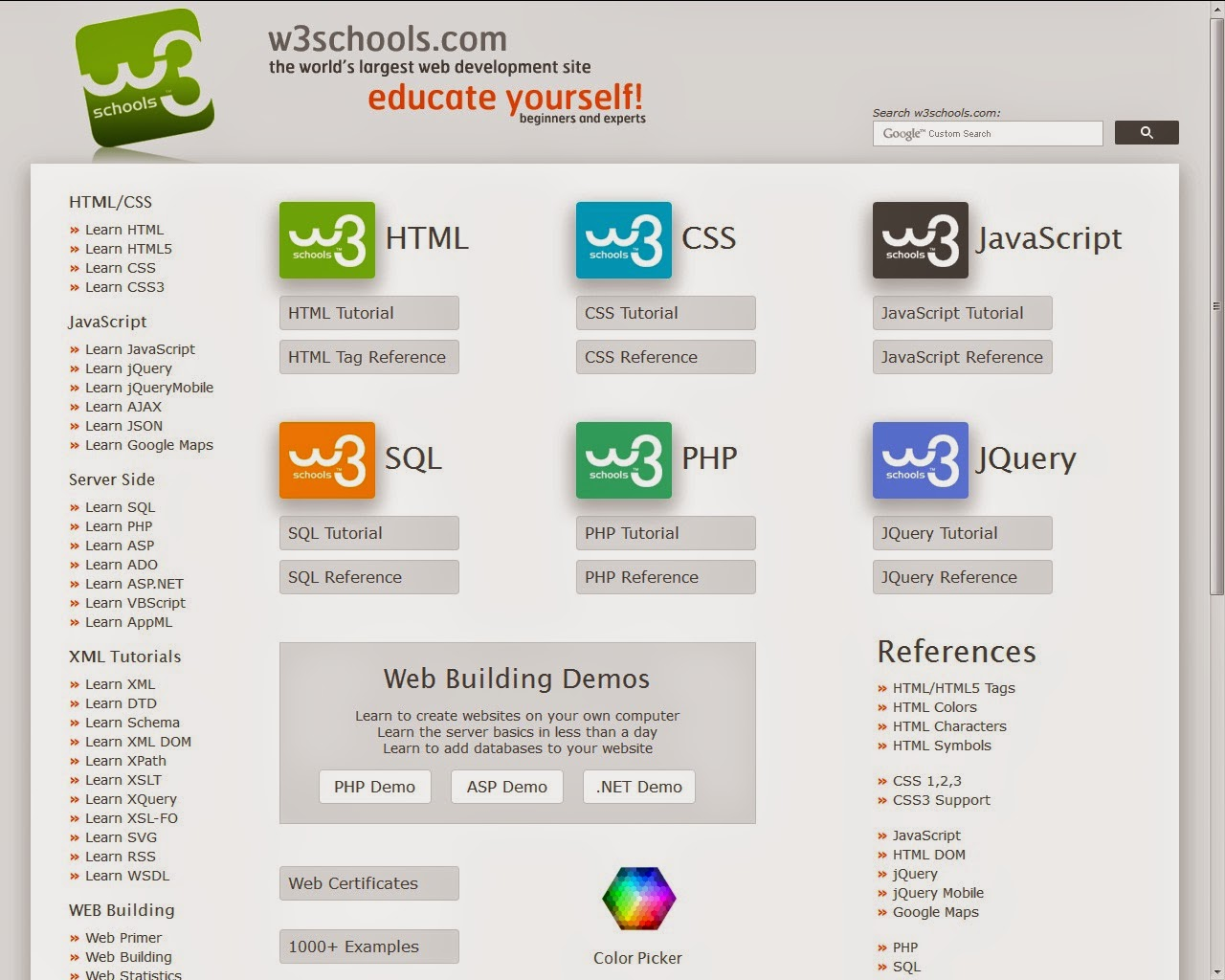 Web design html css javascript sql php jquery bangla pdf w3school home page stopboris
