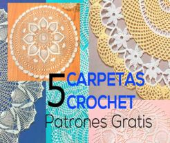 5 modelos de carpetas crochet