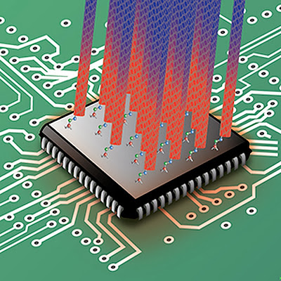 Cooling microprocessor chips