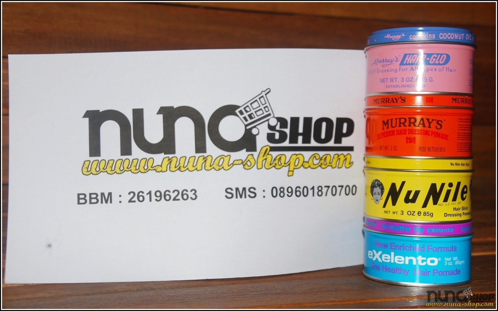 Minyak Rambut POMADE Murray's Nunile, Superlight, Exelento, Hair-Glo, Superior From US ( ASLI )