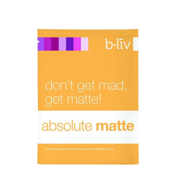 B.Liv Absolute Matte [clarifying charcoal mask]