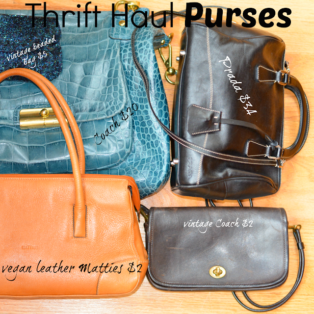 thrift haul designer purses